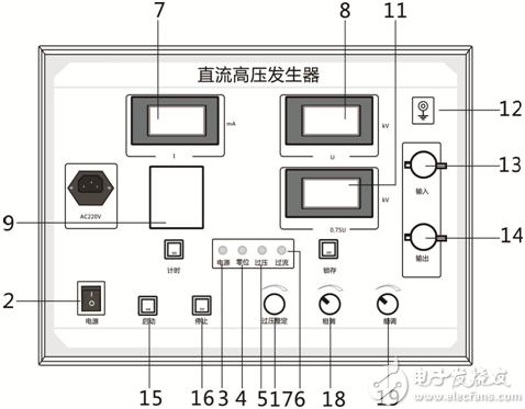 直流高压发生器接线图-使用方法