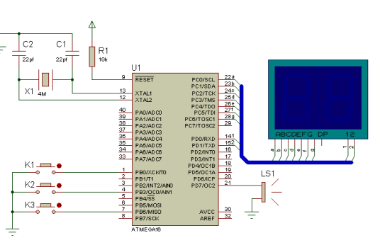 AVR EEPROM与数码管应用的程序资料免费下载