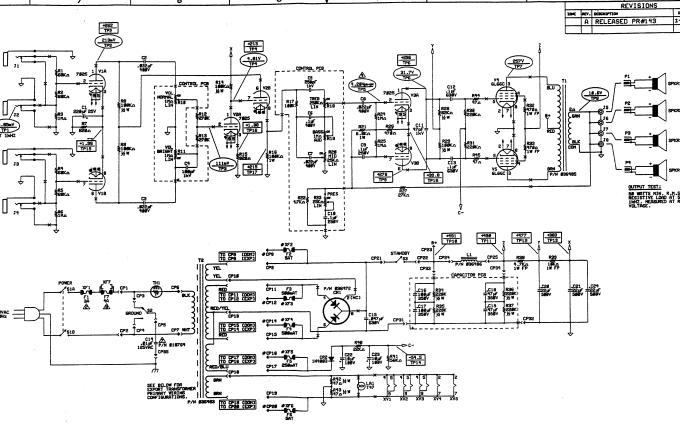 电子管吉他音箱电路原理图资料免费下载