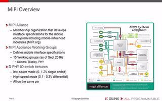 MIPI和Xilinx MIPI解決方案的介紹