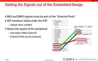 如何在Zynq-7000的PlanAhead/XPS流程中使用MIO与EMIO配置