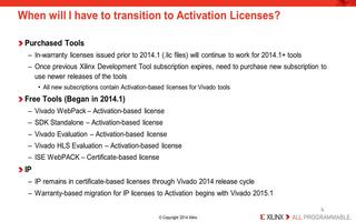 Vivado 2014.1中的许可和激活概述