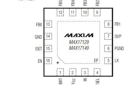 6串WLED驱动电路MAX17149的数据手册免费下载