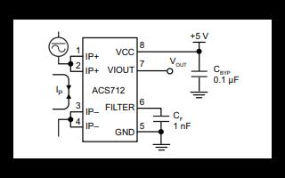 ACS712全集成霍尔效应线性电流传感器的数据手册免费下载