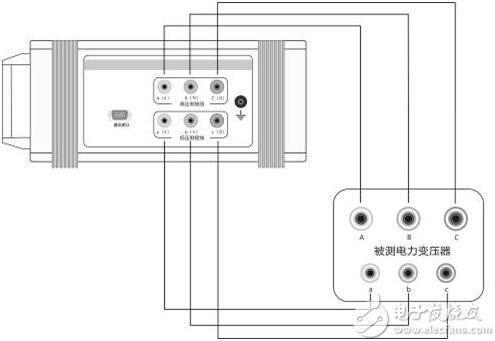 变压器变比测试仪测量接线图