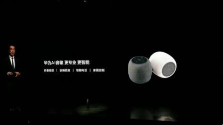 华为发布首款智能AI音箱 智能音箱领域又增加了一...