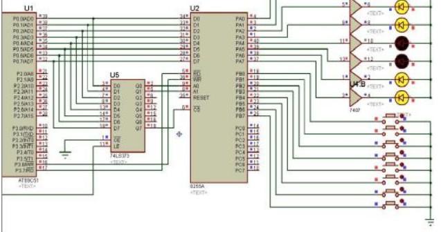 如何使用PIC单片机扩展8255A并口