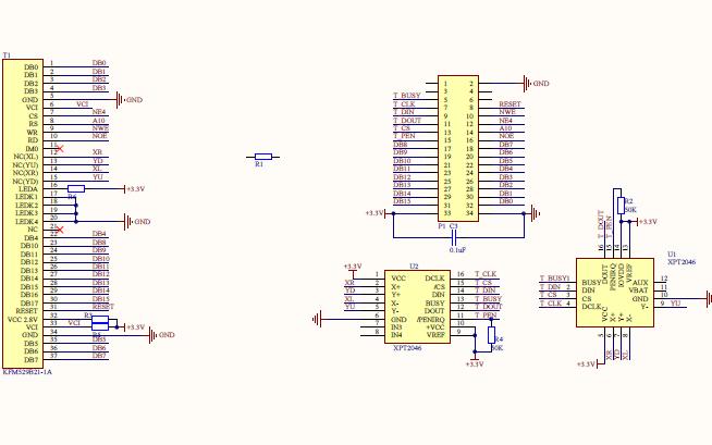 TFT彩屏原理图和STM32开发板原理图资料免费下载