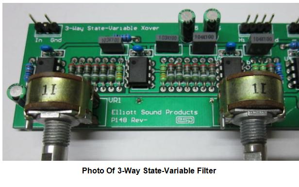 状态变量滤波器可调分频测试系统的详细资料说明