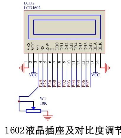 单片机对1602液晶的驱动