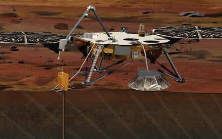 火星探测器洞察号正准备开始勘测火星内部
