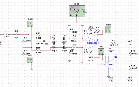 AD620和AD705构成的电路仿真的详细资料免费下载