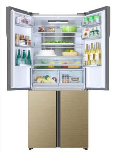 海尔世界首款T门全空间保鲜冰箱开创了冷藏冷冻全空...