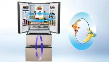 美菱新品冰箱搭载了冷藏呼吸增鲜技术和冷冻冬眠藏鲜...