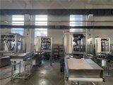 新松研发的并联机器人摆肠机系统进行出厂调试
