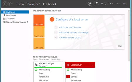 Windows Server 2012服务器管理器的详细资料讲解