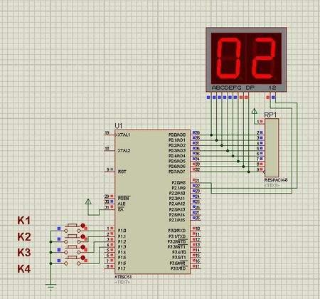 如何采用单片机实现数码管循环显示0-9