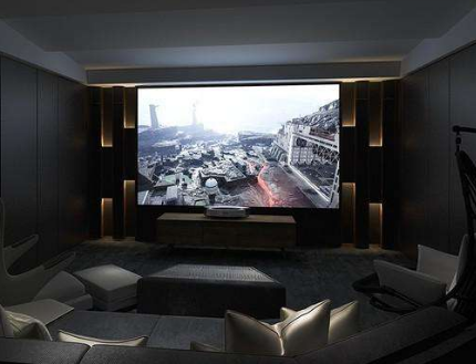 国美推出了与坚果联合打造的私人影院级4K激光电视