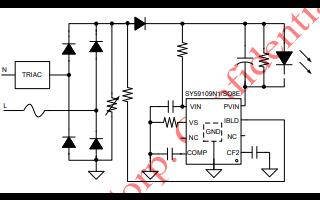 SY59109N1线性AC DC驱动器的数据手册免费下载