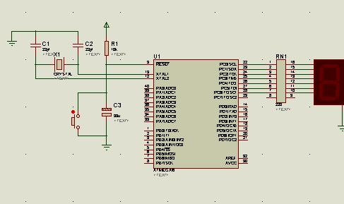 AVR单片机对数码管的控制设计