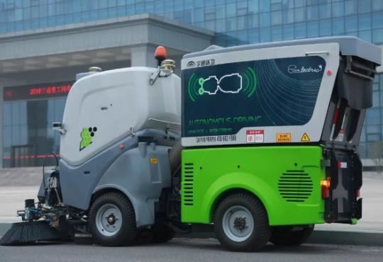 宇通发布了旗下首款纯电动无人驾驶扫路机