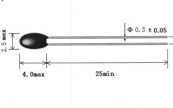 MF52珠状测温型NTC热敏电阻器数据规格手册免费下载