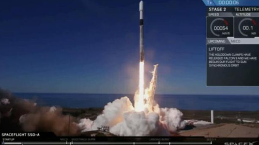 SpaceX再破纪录 一箭64星