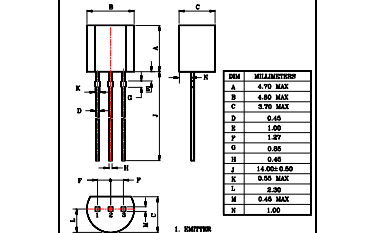 2N5401外延平面PNP晶体三极管的数据手册免费下载