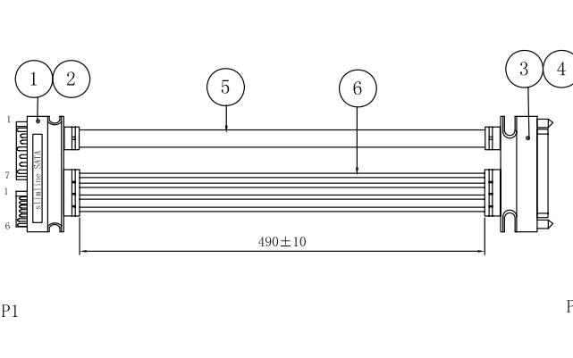 A0906291 SATA电源转接线模型结构原理图
