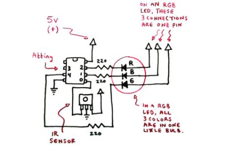 遥控控制的万色返空蛋的电路图和制作过程等资料免费下载