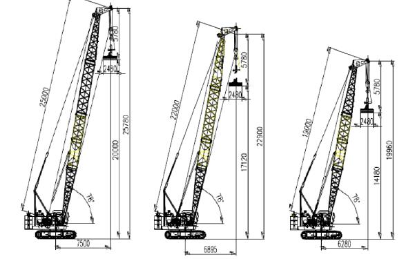 QUY55强夯型履带式起重机亮点资料和数据规格介绍