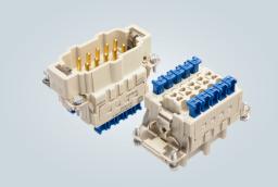Han® ES Press HMC连接器能够无需工具即可进行快速安装