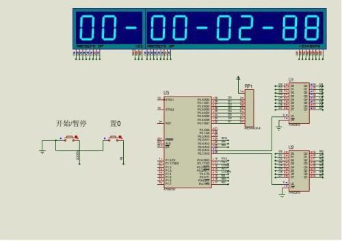51单片机对八位数字秒表的设计