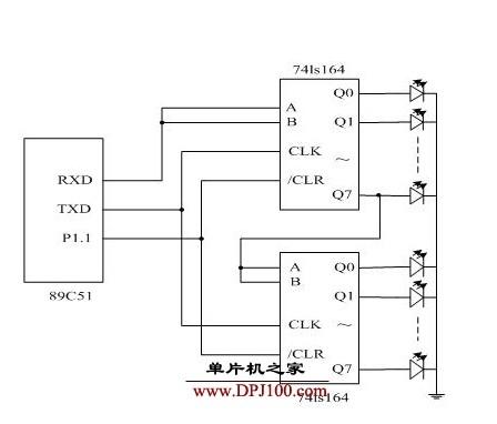 C51单片机实现多个发光二极管按照不同顺序发光的设计
