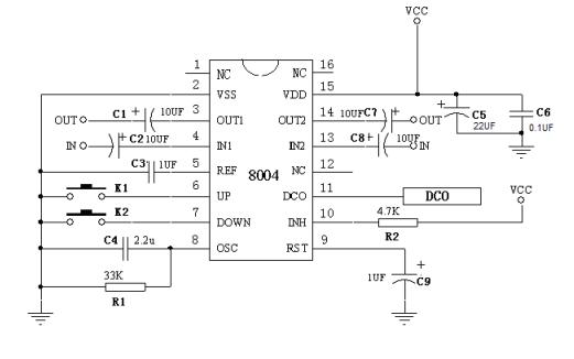 CSC8004 CMOS双声道音量集成电路的数据手册和应用资料免费下载