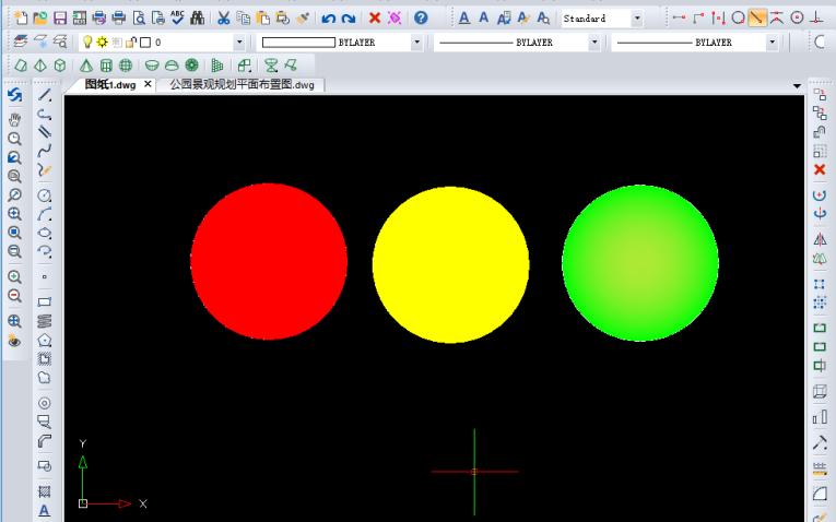 AutoCAD教程之AutoCAD怎么绘制红绿灯
