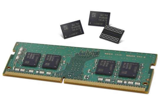 三星采用第二代10nm工艺级别的DRAM芯片量产