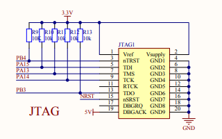 STM32F103VET6最小系统板电路原理图资料免费下载
