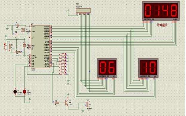 使用AT89S52單片機設計的籃球計時計分器程序資料免費下載