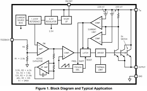 LM2596降压开关稳压器的数据手册免费下载