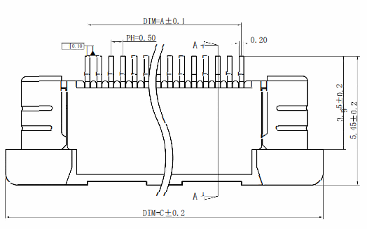 24连接器引脚间距0.5毫米的结构原理图的详细资料免费下载