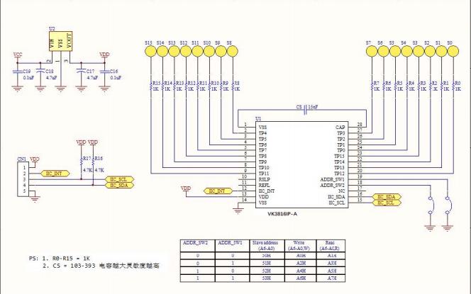 VK3816IP-A高灵敏度触摸芯片的数据手册免费下载