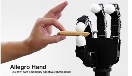 圆益推出一款叫Allegro Hand的机器人拥有像人一样的5根手指