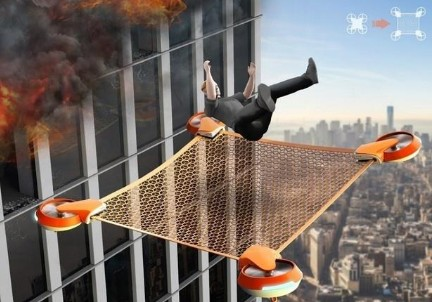 Net Guard无人机帮助摩天大楼高层救援