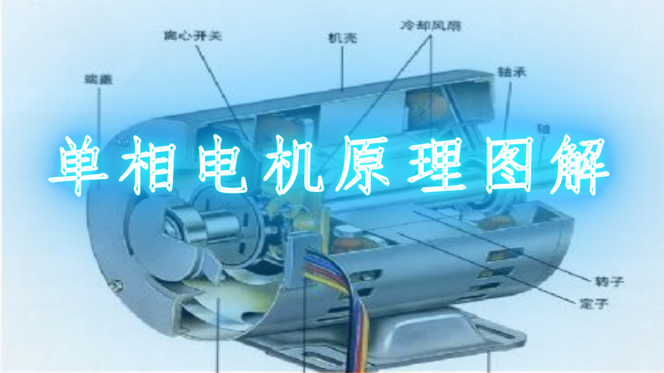 220v双值异步电动机接线实物图