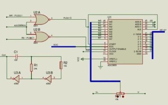 使用單片機和ADC0804設計的電子秤程序和仿真資料免費下載