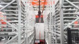 中鼎集成携最新研发的WITR高速旋转推拉式密集型堆垛机亮相CeMATASIA2018
