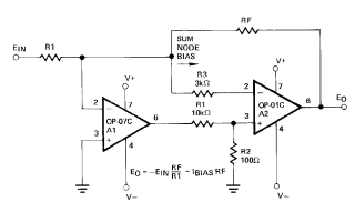 OP07输入偏置电压的详细数据手册免费下载