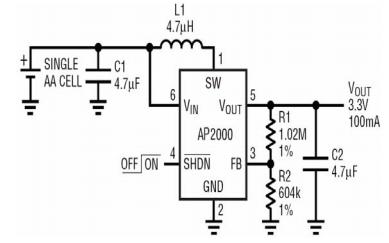 AP2000升压DCDC转换器芯片资料免费下载