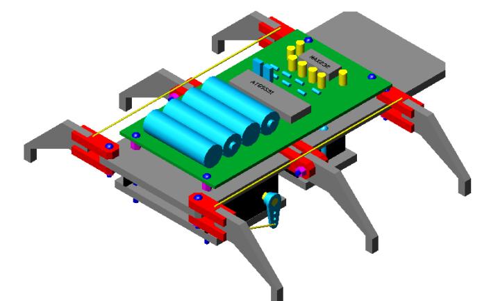 如何進行一個六足爬蟲機器人的設計詳細資料概述